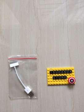 Kabel casan charger untuk di laptop atau pc untuk iphone 4