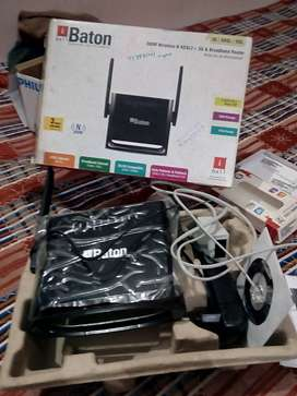 i-ball Baton broadband router like new at half price