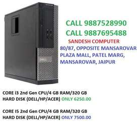 CORE i3/I5 2nd Gen CPU/4 GB RAM/320 GB HARD DISK (DELL/HP/ACER)