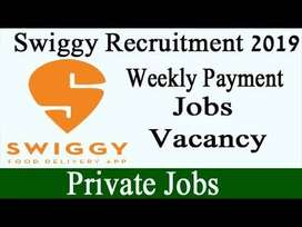required delivery executives in swiggy
