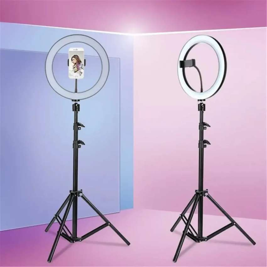 26 Cm Ring Light Available with Tripod Stand 7 Ft Height 0