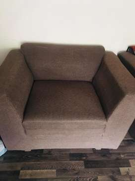 Modern sofa set in jute fabric