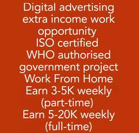 URGENT VACANCY for Digital Advertising. Earn 3k-20k weekly
