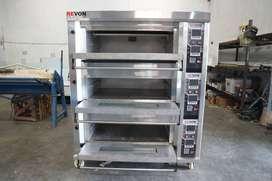 Oven Roti / Oven Deck Otomatis Dengan Api Atas Bawah Cepat Matang