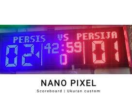 Lampu led tulisan teks jalan jam iqomah sholat digital scoreboard