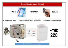 Automatic Door Lock with WiFi or/and Remote Control