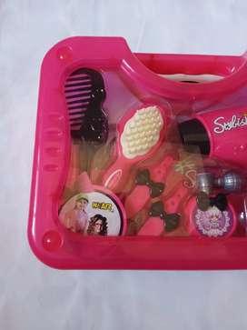 Mainan anak koper set baru hairdryer set