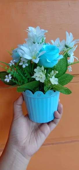 Ready tanaman bunga hias plastik