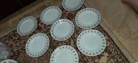 IMPORTED 8 INCHES PLATES SET OF 8 FIX PRICE