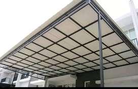 @37 canopy minimalis rangka tunggal atapnya alderon pvc bikin nyaman