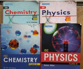 Class 11 & 12 ISC Phy Chem Books  ( Give your no if interested)