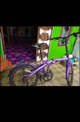 Dijual sepeda lipat merk exotic ukuran 20