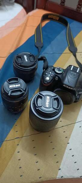 Nikon D5200 with Dual Kit lens and one 50mm Prime Lens