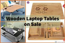 Foldable Wooden Laptop Tablet Mobile Table Large size multi purpose