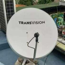 Parabola Transvision HD gambar sudah HD channel lengkap