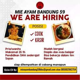 Dicari posisi masak untuk Mie Ayam Bandung 59 cabang Mozes Gatotkaca