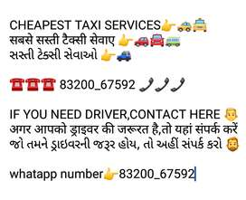 Taxi & driver available for your needs