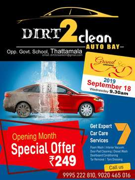Opening month SPECIAL OFFER FULL CAR WASH @249