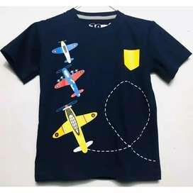 Kaos anak motif pesawat