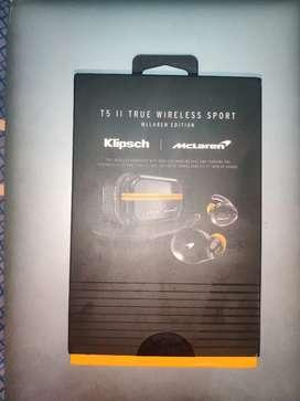 Klipsch T5 II true Wireless Sport earphones (McLaren edition).