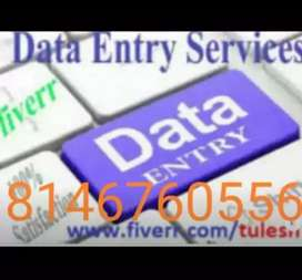 Data entry job available here, typing work