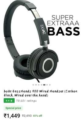 BoAt BassHeads 900 Wired Headphone
