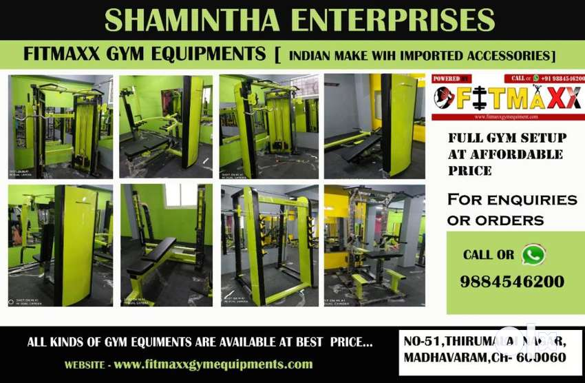 Fitness equipments and gym equipments available Offer price 0