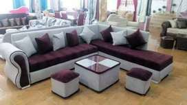 Brand new 6 seater L shape at factory rate from manufacturer