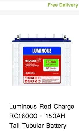 Luminous battery and ups