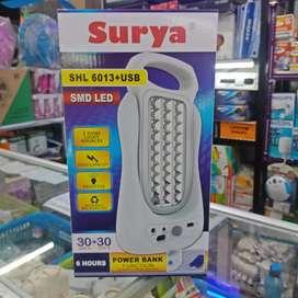 emergency surya SHL-6013+USB double led 30+30