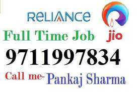 RELIANCE JIO Full time job apply in helper,store keeper,supervisor Cal