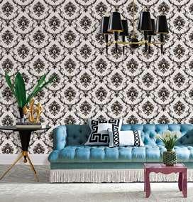 jual wallpaper dinding motif batik harga murah