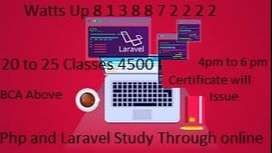 Php/Laravel studies through online