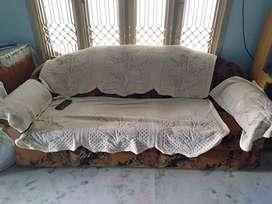 Cushion sofa with 2 chairs