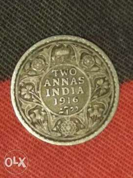 Old Indian currency coin