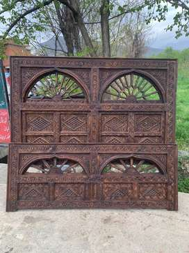 Antique Double bed and two side table