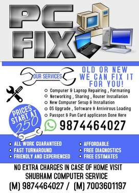 Computer & Laptop Repairing , Formatting and Others work done here