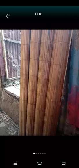 Tirai bambu dan kulit bambu dan tikar rotan
