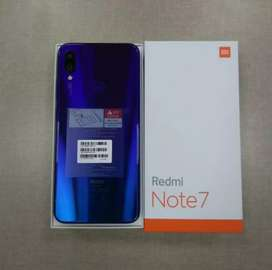 Dijual Xiomi redmi note 7 ram 4/ 64gb mulus lengkap 100% nego tipis