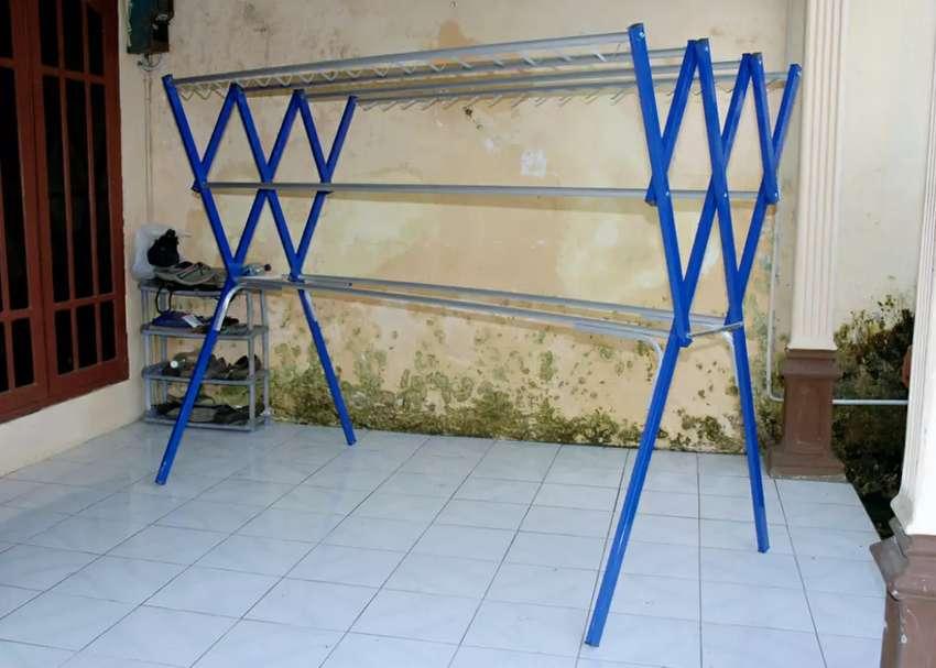 Jemuran Warna Harmonika Lipat 2 Meter Aluminium 0