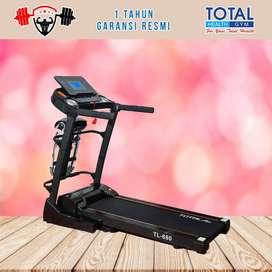 Alat fitness treadmill elektrik TL 680 treadmil TOTAL COD Sidoarjo