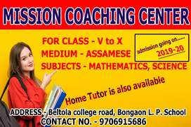 Need student for class ix-x. Subject mathematics and science.