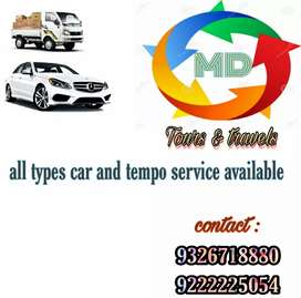 Car and tempo is available for rent
