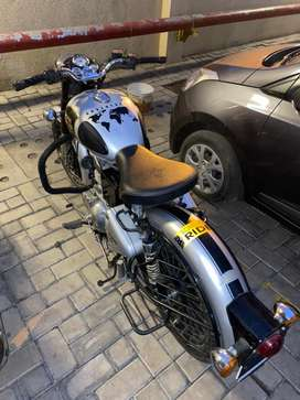 Royal enfield classic 350 with alloy wheels and exhaust