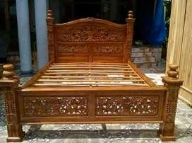 Tempat tidur rahwana no1 bahan kayu jati