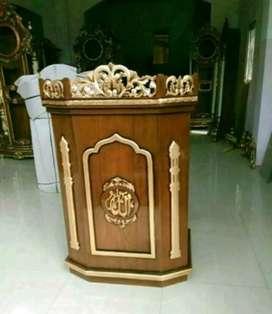 mimbar masjid kayu jati modern