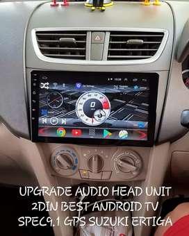 UPGRADE AUDIO HEAD UNIT 2DIN BEST ANDROID TV SPEC9.1 GPS SUZUKI ERTIGA