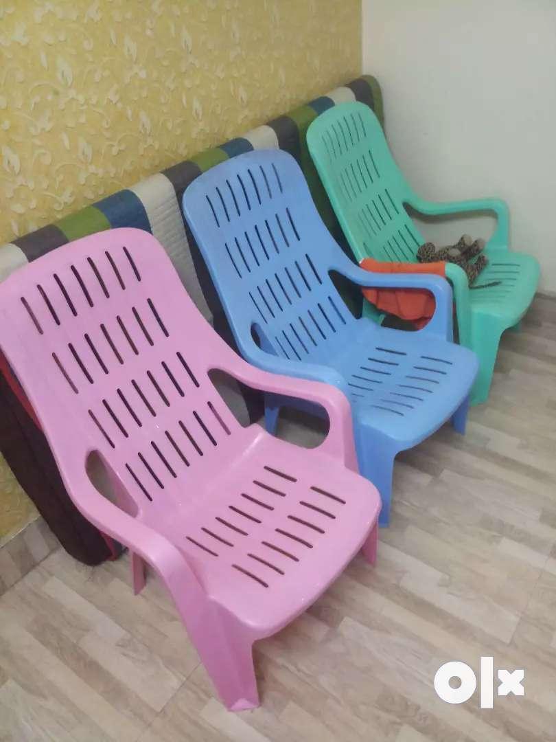 Designers plastic chair 0