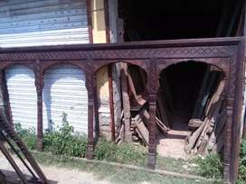 Hand made new and old arches from old wood