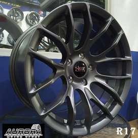Kredit velg mobil Accord Civic ring 17 tipe Oster HSR warna grey